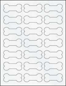 "Sheet of 2.3852"" x 1.0671"" Clear Matte Laser labels"