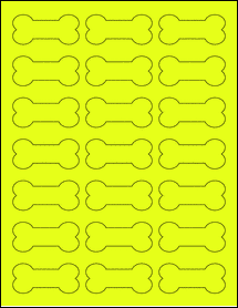 "Sheet of 2.3852"" x 1.0671"" Fluorescent Yellow labels"