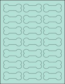 "Sheet of 2.3852"" x 1.0671"" Pastel Green labels"