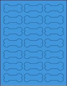 "Sheet of 2.3852"" x 1.0671"" True Blue labels"