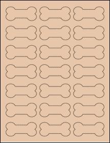 "Sheet of 2.3852"" x 1.0671"" Light Tan labels"