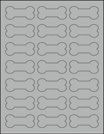 "Sheet of 2.3852"" x 1.0671"" True Gray labels"