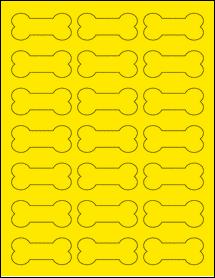 "Sheet of 2.3852"" x 1.0671"" True Yellow labels"