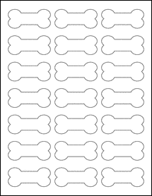 """Sheet of 2.3852"""" x 1.0671"""" Removable White Matte labels"""