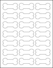 "Sheet of 2.39"" x 1.07"" Aggressive White Matte labels"