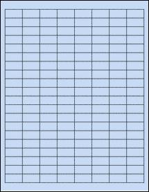 "Sheet of 1"" x 0.5"" Pastel Blue labels"