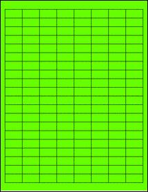 """Sheet of 1"""" x 0.5"""" Fluorescent Green labels"""