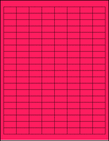 "Sheet of 1"" x 0.5"" Fluorescent Pink labels"