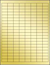 "Sheet of 1"" x 0.5"" Gold Foil Inkjet labels"