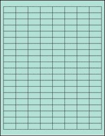"Sheet of 1"" x 0.5"" Pastel Green labels"