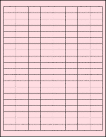 "Sheet of 1"" x 0.5"" Pastel Pink labels"