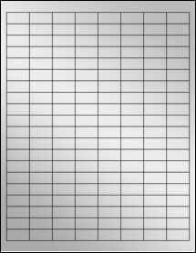 """Sheet of 1"""" x 0.5"""" Silver Foil Inkjet labels"""