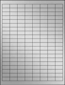 "Sheet of 1"" x 0.5"" Weatherproof Silver Polyester Laser labels"