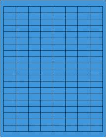 "Sheet of 1"" x 0.5"" True Blue labels"