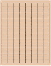 "Sheet of 1"" x 0.5"" Light Tan labels"
