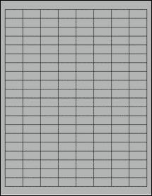 "Sheet of 1"" x 0.5"" True Gray labels"