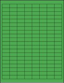 "Sheet of 1"" x 0.5"" True Green labels"