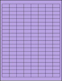 "Sheet of 1"" x 0.5"" True Purple labels"