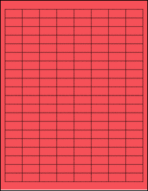 """Sheet of 1"""" x 0.5"""" True Red labels"""