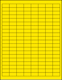 "Sheet of 1"" x 0.5"" True Yellow labels"