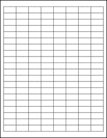 """Sheet of 1"""" x 0.5"""" Weatherproof Matte Inkjet labels"""