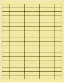 "Sheet of 1"" x 0.5"" Pastel Yellow labels"