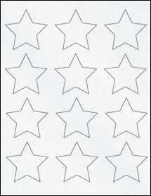 """Sheet of 2.3758"""" x 2.2601"""" Clear Matte Inkjet labels"""