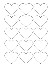 "Sheet of 2.2754"" x 1.8872""  labels"