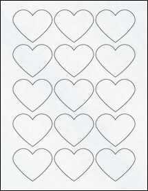 """Sheet of 2.2754"""" x 1.8872"""" Clear Matte Inkjet labels"""