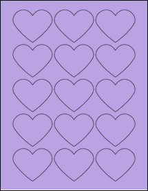 "Sheet of 2.2754"" x 1.8872"" True Purple labels"