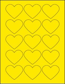 "Sheet of 2.2754"" x 1.8872"" True Yellow labels"