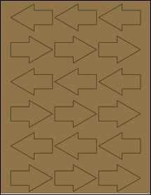 """Sheet of 2.3749"""" x 1.5313"""" Brown Kraft labels"""