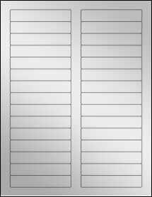 """Sheet of 3.4375"""" x 0.669"""" Silver Foil Inkjet labels"""