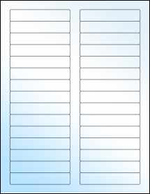 "Sheet of 3.4375"" x 0.669"" White Gloss Laser labels"