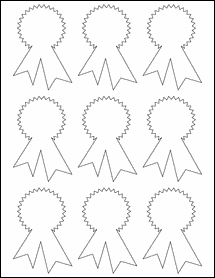 """Sheet of 2.34"""" x 3.4""""  labels"""