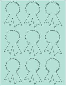 "Sheet of 2.3414"" x 3.4028"" Pastel Green labels"