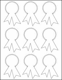 "Sheet of 2.3414"" x 3.4028"" Weatherproof Polyester Laser labels"