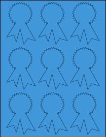 "Sheet of 2.3414"" x 3.4028"" True Blue labels"