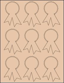 "Sheet of 2.3414"" x 3.4028"" Light Tan labels"