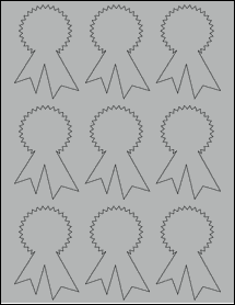 "Sheet of 2.3414"" x 3.4028"" True Gray labels"