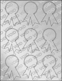 "Sheet of 2.34"" x 3.4"" Void Silver Polyester labels"