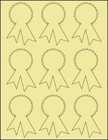 "Sheet of 2.3414"" x 3.4028"" Pastel Yellow labels"