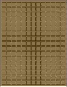 """Sheet of 0.5"""" x 0.5"""" Brown Kraft labels"""