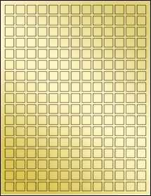 """Sheet of 0.5"""" x 0.5"""" Gold Foil Laser labels"""