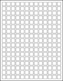 """Sheet of 0.5"""" x 0.5"""" 100% Recycled White labels"""
