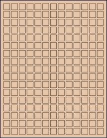 "Sheet of 0.5"" x 0.5"" Light Tan labels"