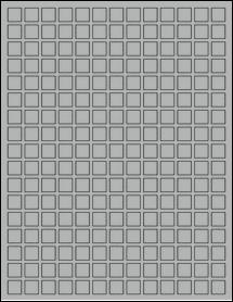 "Sheet of 0.5"" x 0.5"" True Gray labels"