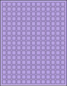 """Sheet of 0.5"""" x 0.5"""" True Purple labels"""