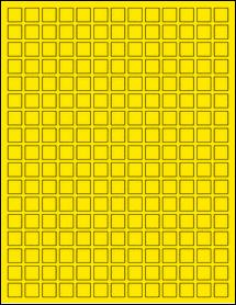 "Sheet of 0.5"" x 0.5"" True Yellow labels"