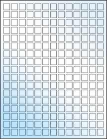 """Sheet of 0.5"""" x 0.5"""" White Gloss Inkjet labels"""